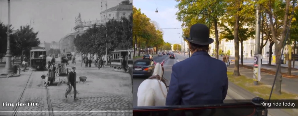 Vienna's streets now and then (and in the future)