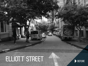 Elliott Street Shared Space before