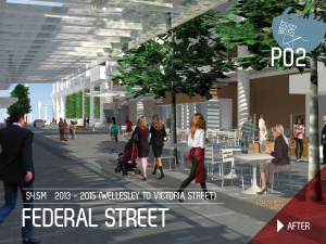 Federal Street Shared Space after