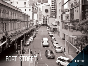 Fort Street Shared Space before