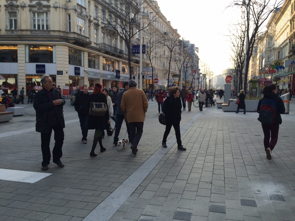 A Tale of Two Cities (1): Vienna's Mariahilferstraße combines Pedestrian Zone and Shared Space