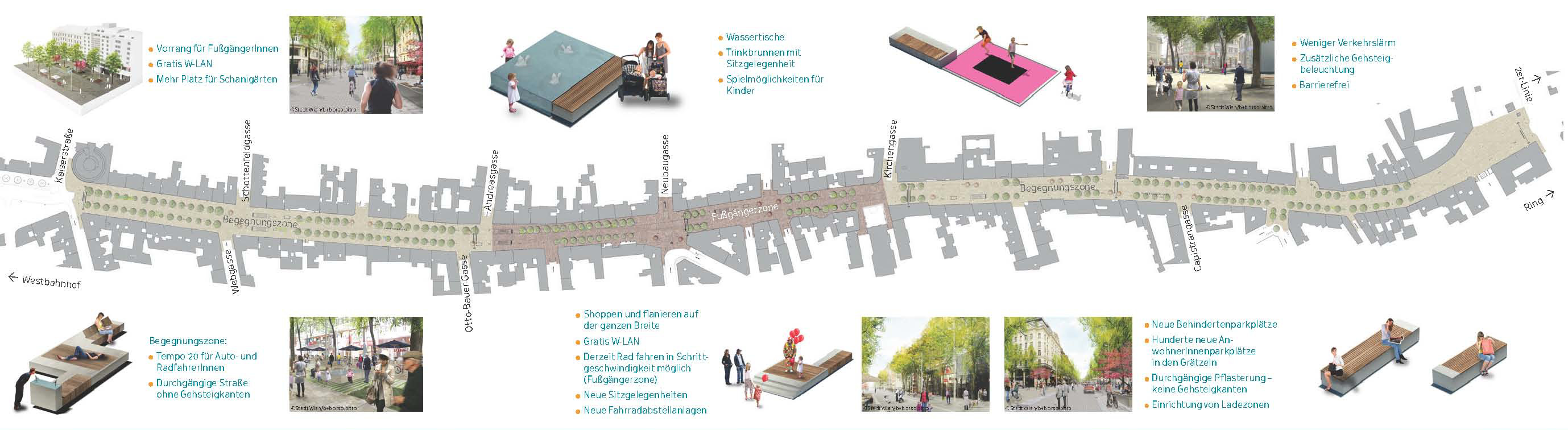A Tale Of Two Cities 1 Vienna S Mariahilferstra E Combines Pedestrian Zone And Shared Space